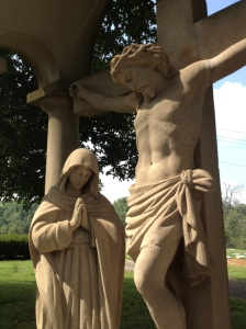 Statue at the Loretto Motherhouse, part of the Seven Sorrows of Mary brought over in the 19th century
